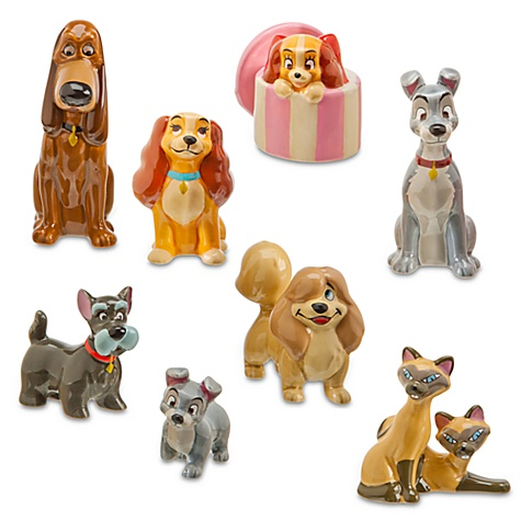 Disney store Lady and the Tramp figurines