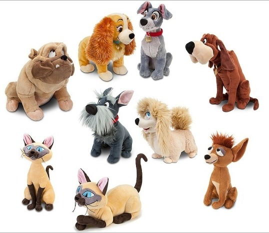 LATT Lady and the Tramp plush toys