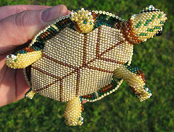 Bead Art Turtle 1